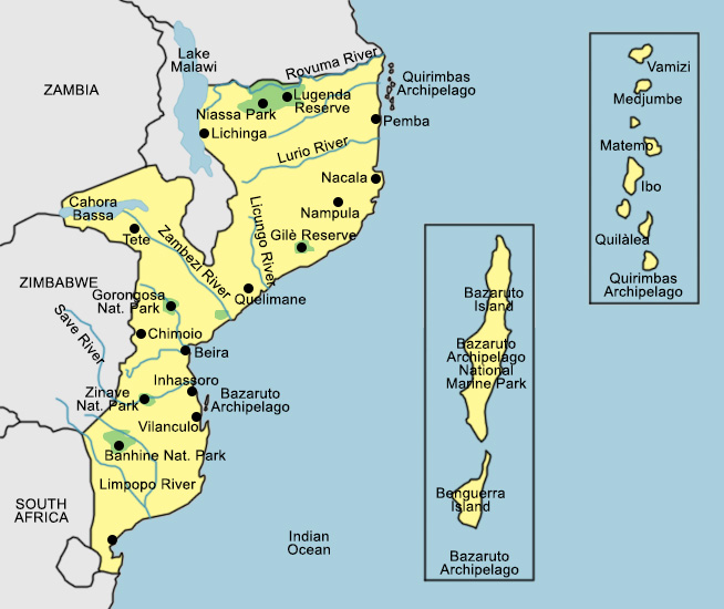 Mozambico Map